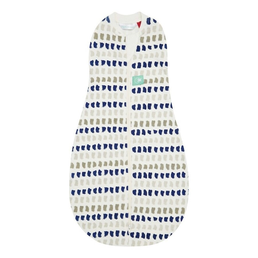 澳洲【ergoCocoon】有機棉二合一舒眠包巾-藍灰點(1TOG 春秋專用) - 限時優惠好康折扣