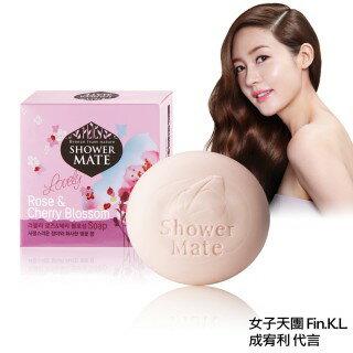 韓國 HERASYS 可瑞絲 Shower Mate 可愛玫瑰 櫻花精油香皂 100g 單顆/四入組合 ☆真愛香水★ 另有綠茶