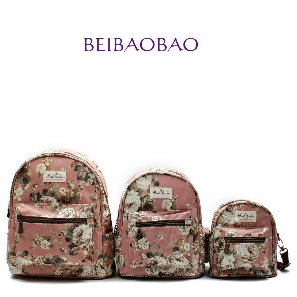 【BEIBAOBAO】粉色花漾親子包( 大+中+小  共三個) 0