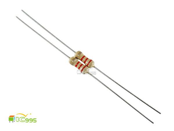 (ic995) 插板式線性電阻 1/4W 2.2KΩ ±5% 壹包20入 #13482