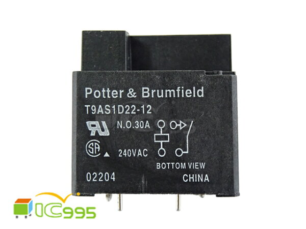 (ic995) POTTER & BRUMFIELD / T9AS1D22-12 PC板或面板安裝 繼電器 全新品 壹包1入 #5110