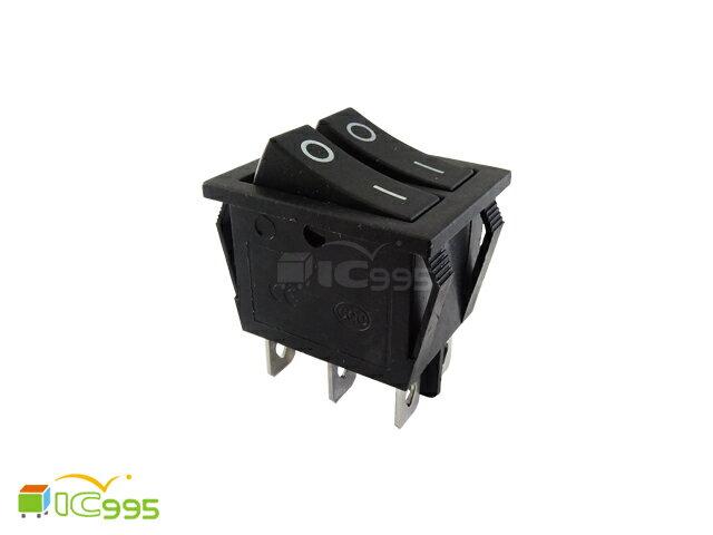 (ic995) KCD6 黑色 雙聯 船型開關 雙排 翹板開關 6腳 全新品 壹包1入 #0503