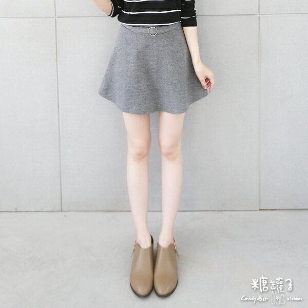 ★原價499五折250★糖罐子金屬環假腰帶磨毛褲裙→預購【KK4919】 2