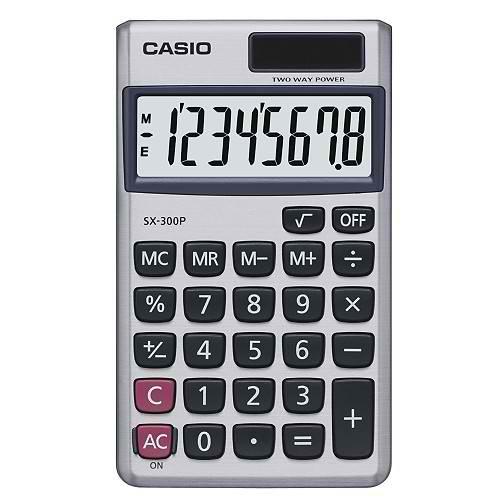 CASIO SX-300P 國家考試機型8位數計算機