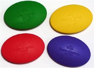 Faber-Castell 189020 可愛貝貝橡皮擦 橢圓形造型(混色銷售)