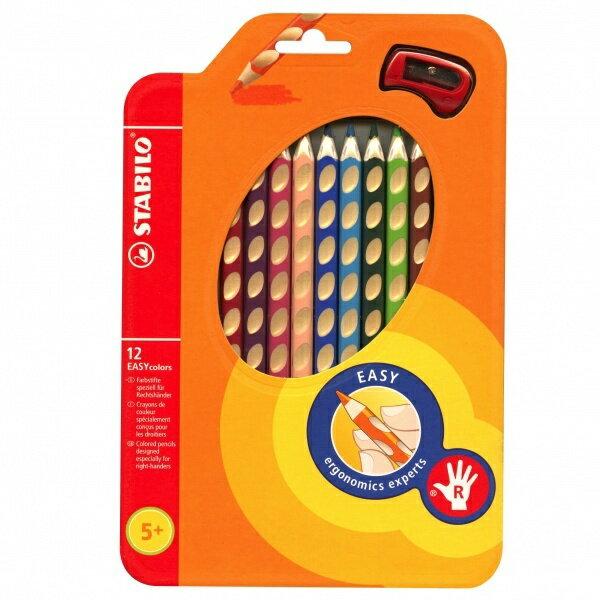 STABILO鵝牌 EASYcolors 洞洞易握色鉛筆 12色組(332/12)分左右手易握鉛筆*適合5歲以上小朋友