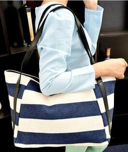 【百搭條紋側背包】 後背包 側背包 書包 旅行包   時尚玩包