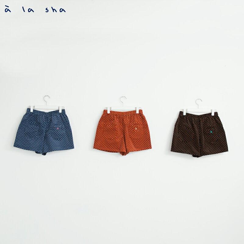 a la sha enco 魚口袋點點短褲 4