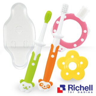 日本【Richell-利其爾】乳牙訓練牙刷套組 - 限時優惠好康折扣