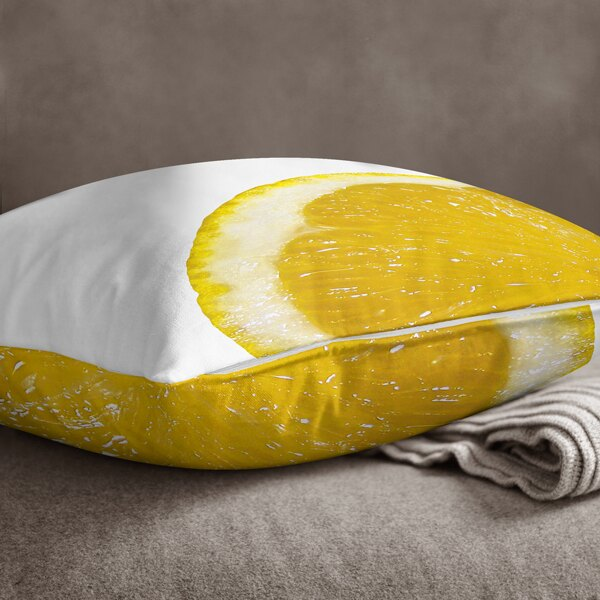 [IHERMI ] 柳橙A款抱枕 (45*45CM ) 愛好蜜  MIT台灣製造好安心 環保染劑使用 極細緻印染技術 1