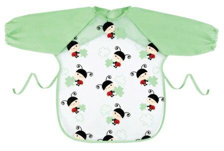 『121婦嬰用品館』拉孚兒 擦可淨用餐圍兜(長袖型) - 瓢蟲滿版 0