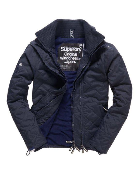 [男款] 英國代購 極度乾燥 Superdry Quilted Arctic Windcheater 男士 絎縫防風衣夾克 海軍藍 0