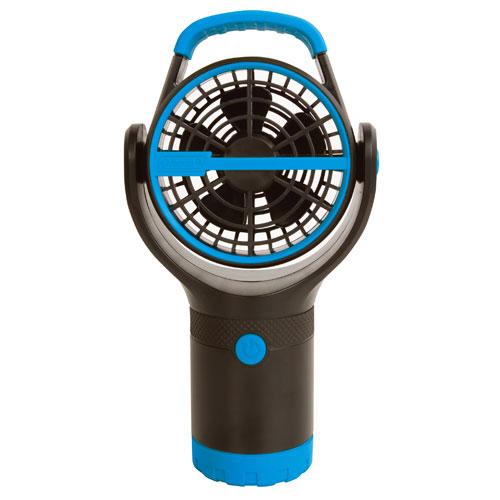 【露營趣】中和 附手電筒 Coleman CM-27314 BATTERYLOCK杯架風扇/萊姆綠 電風扇 小吊扇