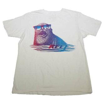 REEF 海獺戴太陽眼鏡看比基尼辣妹趣味男生基本款上衣.白