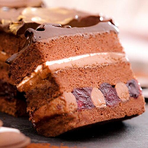 長條蛋糕~多茄米拉~黑櫻桃狂想曲~濃郁的巧克力 酒釀黑櫻桃酸甜滋味 彷彿節奏般的多層 次口