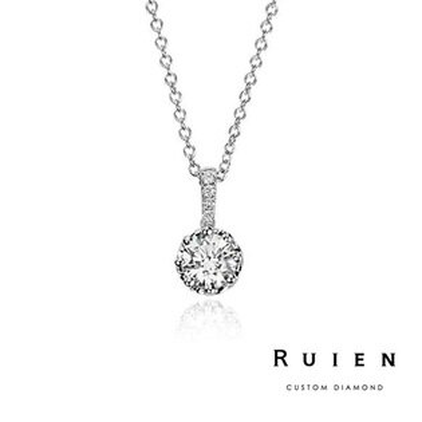 GIA 0.30克拉 D color 3EX H&A 14K白金 限量款鑽石項鍊 RUIEN 瑞恩珠寶