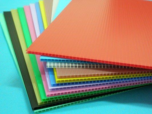 A5塑膠瓦楞板 PP瓦楞板 厚度3mm廣告板 瓦愣板(混色)200mm x 155mm/一小包10張入{定35}