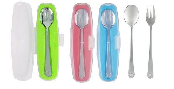 美國 innobaby stainless spoon and fork set 不繡鋼湯
