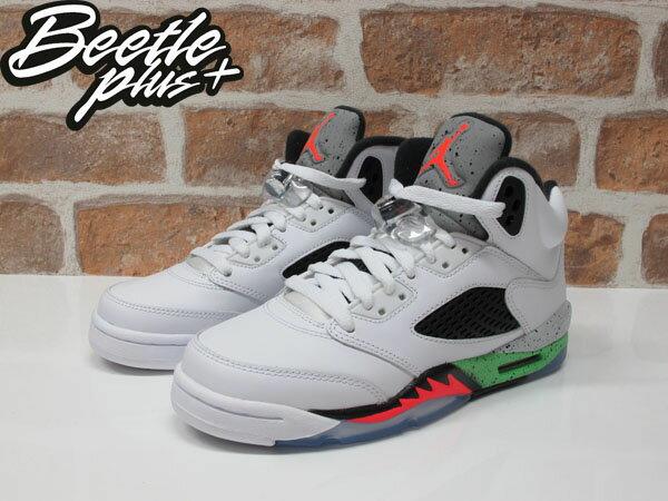 BEETLE PLUS AIR JORDAN V SPACE JAM 5代 3M 反光 大童鞋 女鞋 怪物奇兵 毒液綠 白綠 白黑紅 籃球鞋 流川楓 440888-115 1
