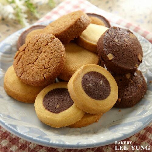 手工餅乾禮盒[巧克力杏仁*2/伯爵紅茶/香草/義式咖啡/雙色威化] 每種口味一包8入 (六包48入/盒)