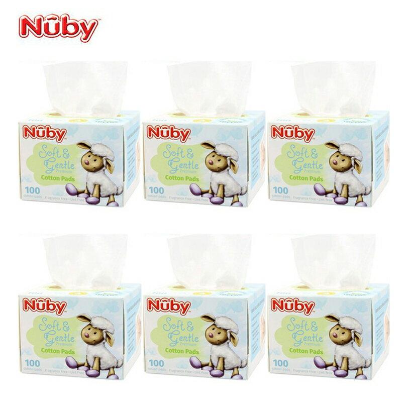 Nuby - 全棉乾濕兩用布巾 100抽 6盒裝 0