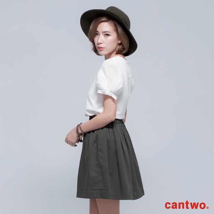 cantwo名媛風珠飾公主袖上衣(共三色) 2