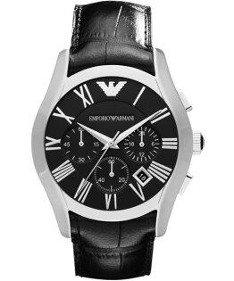 EMPORIO ARMANI/AR1633羅馬時標經典計時腕錶/黑面42mm