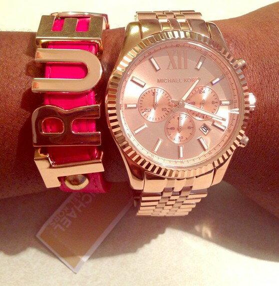 美國Outlet正品代購 MichaelKors MK  男女中性玫瑰金鋼帶錶 手錶 MK5569 6