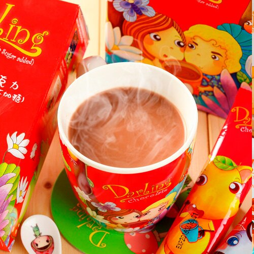 《親愛的買2送10》紅˙巧克力2入(不加塘)(贈10包裝1盒)~再加贈吸水杯墊 0