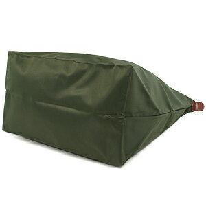 [長柄M號]國外Outlet代購正品 法國巴黎 Longchamp [1899-M號] 長柄 購物袋防水尼龍手提肩背水餃包 軍綠色 3