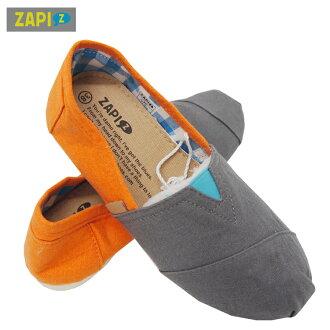 ZAPI休閒懶人鞋-黑橘