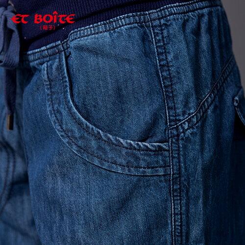 【ET BOîTE 箱子】天絲棉羅紋抽繩休閒褲 1