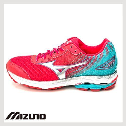 Mizuno 美津濃- WAVE RIDER 19 桃紅 女 慢跑鞋 1
