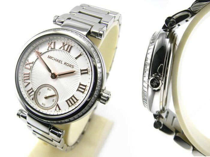 美國Outlet正品代購 MichaelKors MK 復古羅馬鑲鑽銀  陶瓷  三環 手錶 腕錶 MK5970 3