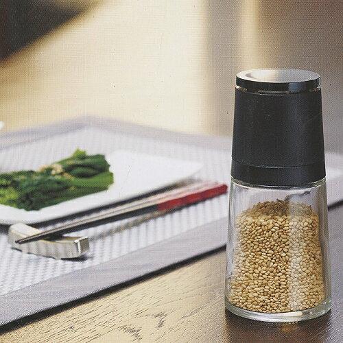 日本ASVEL【陶瓷刀刃】140ml芝麻研磨玻璃罐(黑色)