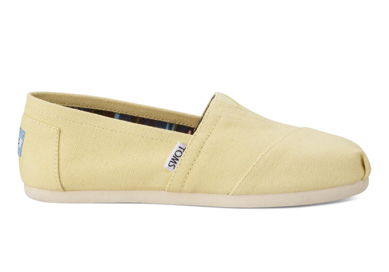 【TOMS】淡黃色經典帆布休閒鞋  Yellow Women's Canvas Classics 2