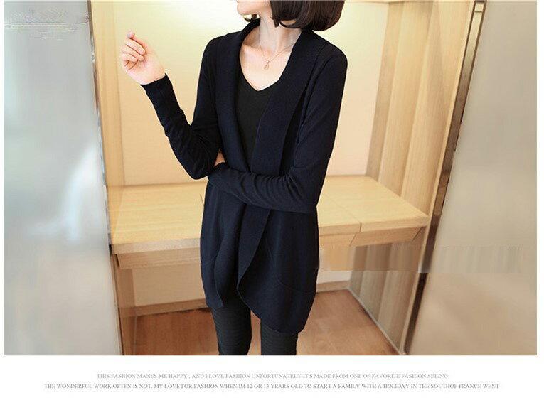 韓國連線針織外套 時尚風西裝式外套罩衫【TAE1613】艾爾莎 1