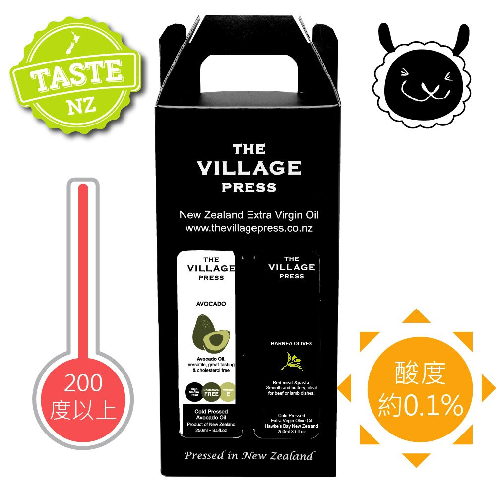 【壽滿趣- 紐西蘭廚神1+1禮盒】酪梨油/Barnea橄欖油(250ml X 2瓶) 0