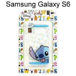 迪士尼透明軟殼 Samsung G9200 Galaxy S6 [手印] 史迪奇【Disney正版授權】