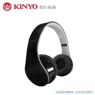 KINYO 耐嘉 BTE-3638  藍芽立體聲免持耳麥/耳機/摺疊式/耳罩式/可接聽通話/3.5mm/電腦/平板/手機/APPLE iphone 6 plus/6/5S HTC One E9/M9/M8/Desire 626/820/EYE/816 Sony Z3/C3/Z3/Z2a/Z2/T2/E4g/T3/Z1/M2/E3/SAMSUNG A7/NOTE 4/3/E7/S6/S6 edge/A5/J/S5/Max/Prime/NOTE Edge