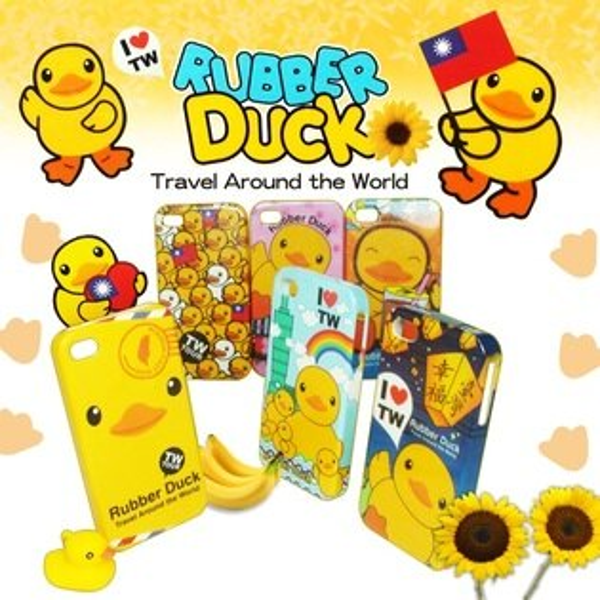 ↗ 黃色小鴨 ↗ Apple iPhone 4 /iPhone 4S Rubber Duck 背蓋保護殼/保護套/背蓋/手機殼/軟殼/矽膠套