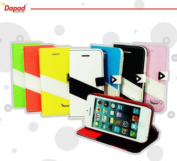 Dapad Apple iPhone 5S SE  雙色側掀皮套 翻蓋保護皮套 保護殼 手