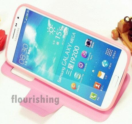 Samsung i9200 Galaxy Mega 6.3 透視視窗側掀皮套 皮革側翻皮套