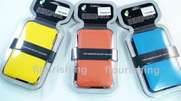 Leafon SAMSUNG Galaxy Note N7000 I9220 側入皮套/掀蓋盔甲皮套/保護套/保護殼 (荔枝紋)