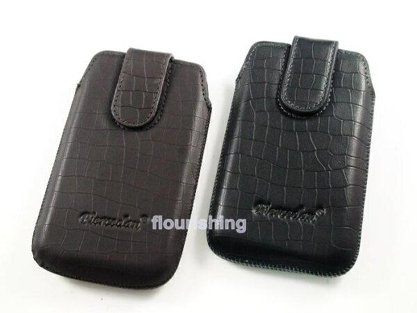 Piercedan HTC Desire HD G10 A9191 皮套 鱷魚皮抽拉式皮套 抽取式皮套 置入式皮套 直入式皮套 保護套 魔鬼氈 ●尺寸相仿的手機皆可使用
