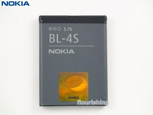 NOKIA 原廠電池BL-4S/BL4S/2680s/3600s/3710/3710f/6208c/6208/7020/7100S/7610S/7020/x3-02/G-PLUS W318