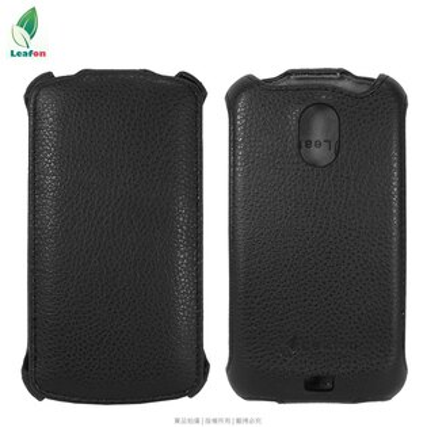 Leafon BlackBerry 黑莓 9900 Ultra Slim 真皮皮套/真皮手工製品/掀蓋盔甲皮套/保護套/保護殼