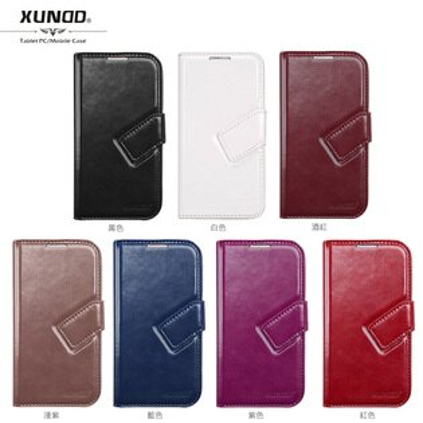 XUNDD SAMSUNG GALAXY S4 (S IV) i9500 皮革休眠側掀皮套/側翻皮套/保護套/保護外衣/側開皮套/磁扣皮套/保護殼