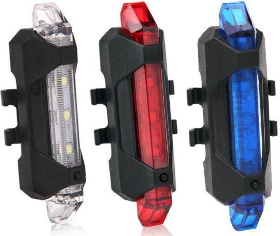 《促銷》原價280 現在只要...USB充電 5LED高亮度 自行車尾燈 警示燈爆閃燈頭燈定位燈LED車燈