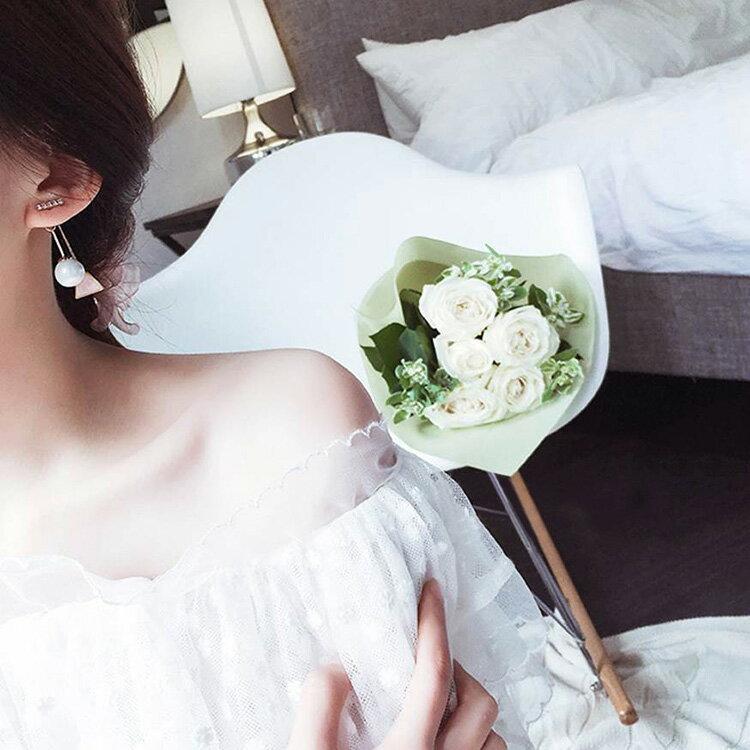 耳環 幾何造型後掛式氣質耳環【TSGE857】 BOBI  07/07 1